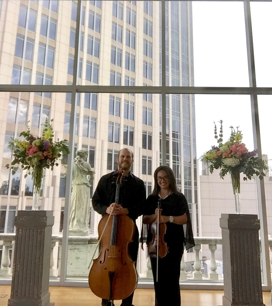 Wedding Songs Duets: Violin/Cello Wedding Ceremony At The Mint Museum (Uptown